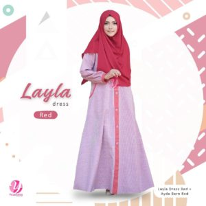 Layla-Red-Yasmeera-dress-hijab amina