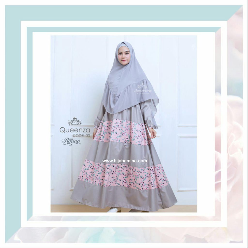 QUEENZA DRESS-03 GREY
