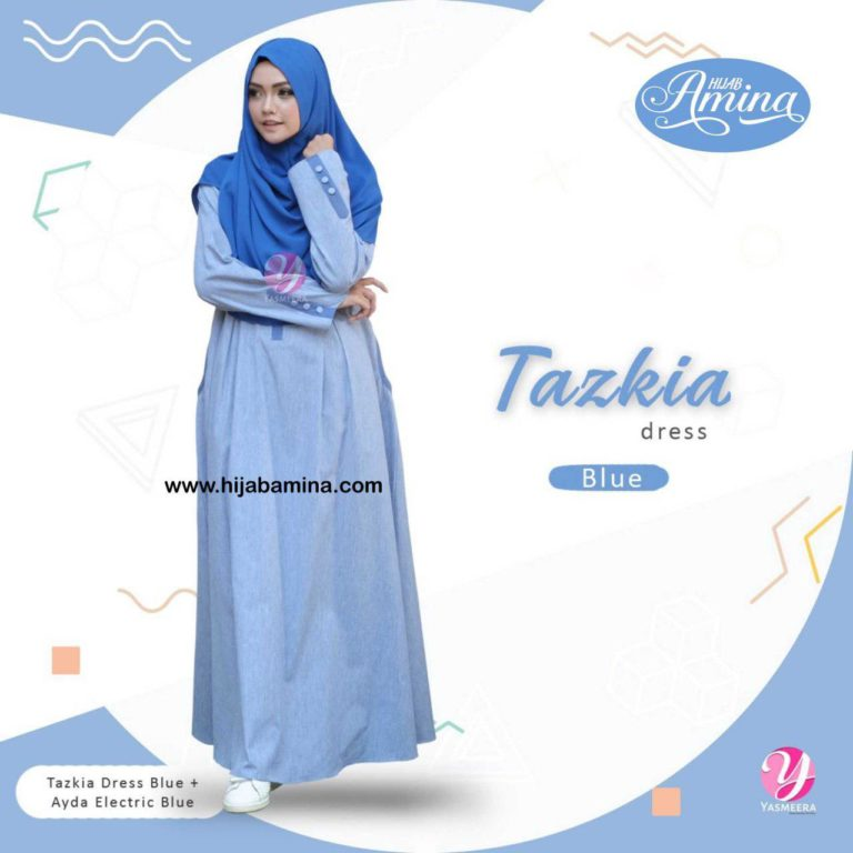 TAZKIA DRESS-BLUE