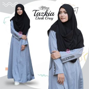 Tazkia-Darkgrey-Yasmeera-Dress-Hijab-Amina