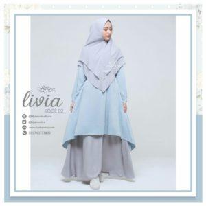 livia 2 - hijab amina - gamis jasmine