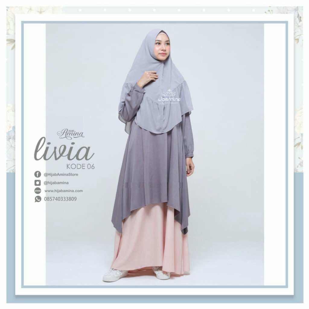 Livia Dress Old Grey – Faded Pink