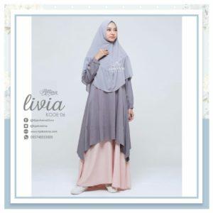 livia 6 hijab amina - gamis jasmine