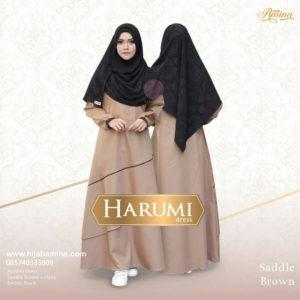 HARUMI DRESS BROWN YASMEERA HIJAB AMINA