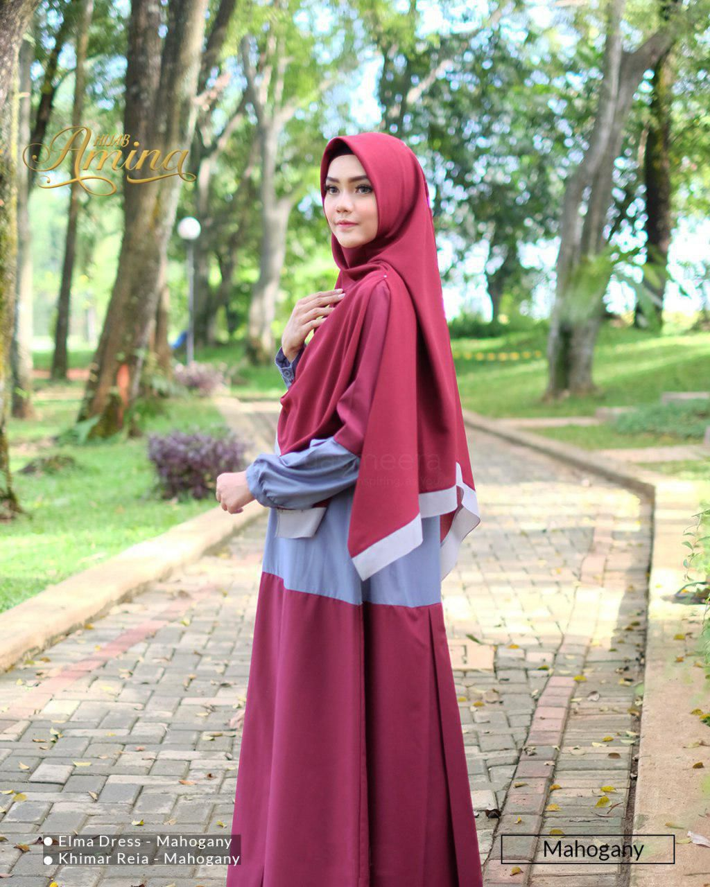 Elma Dress – Mahogany