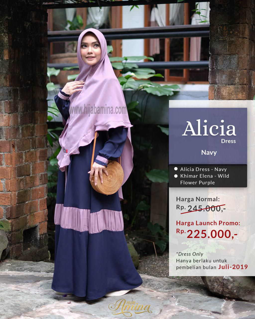 Alicia Dress – Navy