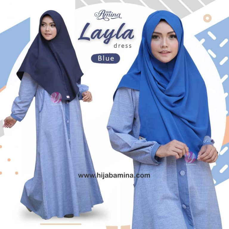 LAYLA DRESS-BLUE