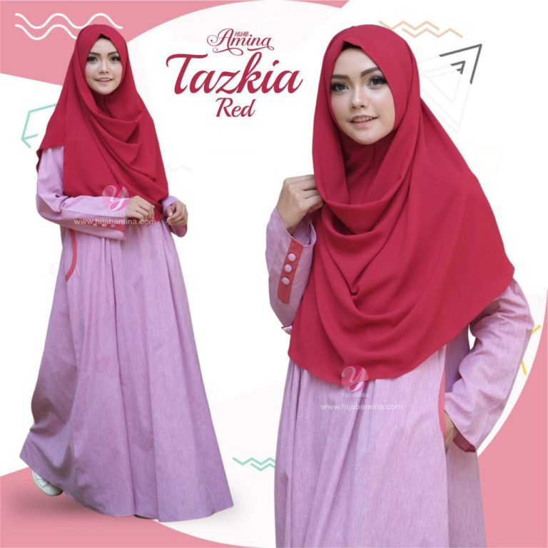 TAZKIA DRESS-RED