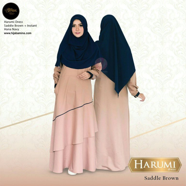 HARUMI DRESS – SADDLE BROWN