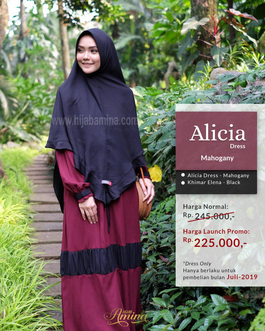 Alicia Dress – Mahogany